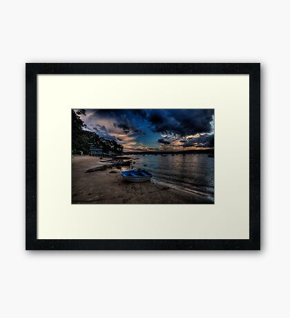 Darkness Falls - Paradise Beach, Sydney - The HDR Experience Framed Print