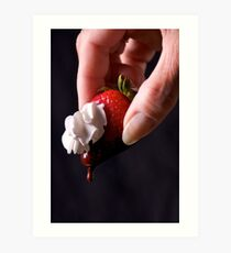 Strawberry,chocolate and whip dream  Art Print