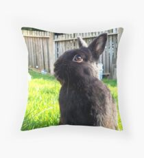Netherland Dwarf in Summer Garden Throw Pillow