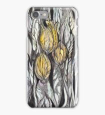 Tulip.Hand draw  ink and pen, Watercolor, on textured paper iPhone Case/Skin