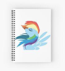 Rainbow Dash in the wind Spiral Notebook