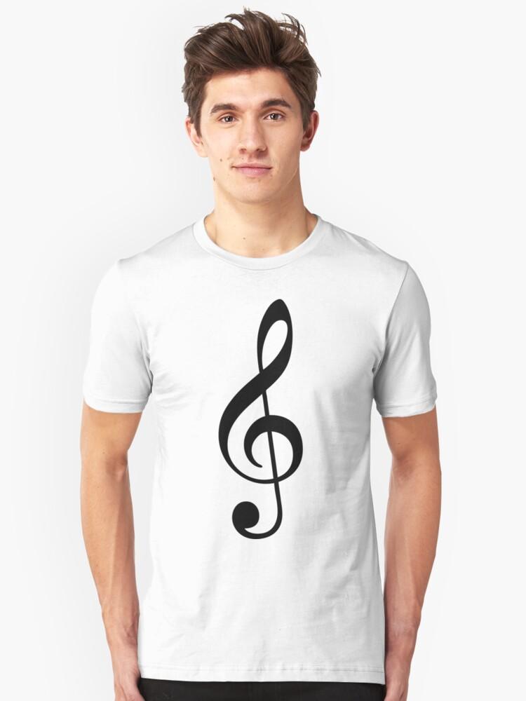 Treble Clef Unisex T-Shirt Front