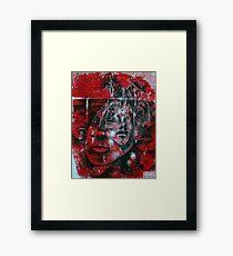Red Faces Framed Print