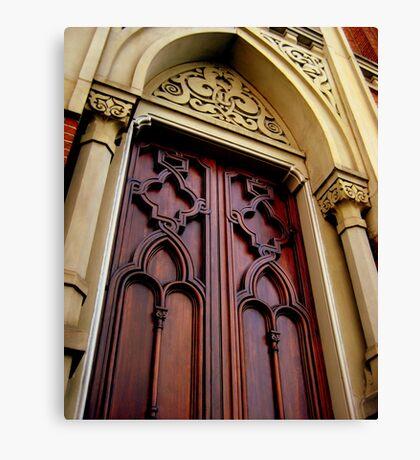 Wise Temple Church Door Cinci, Oh Canvas Print