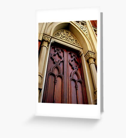 Wise Temple Church Door Cinci, Oh Greeting Card