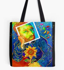 Van Gogh with Sunflower Tote Bag