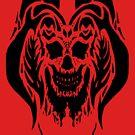 Black Drip Skull by 319media
