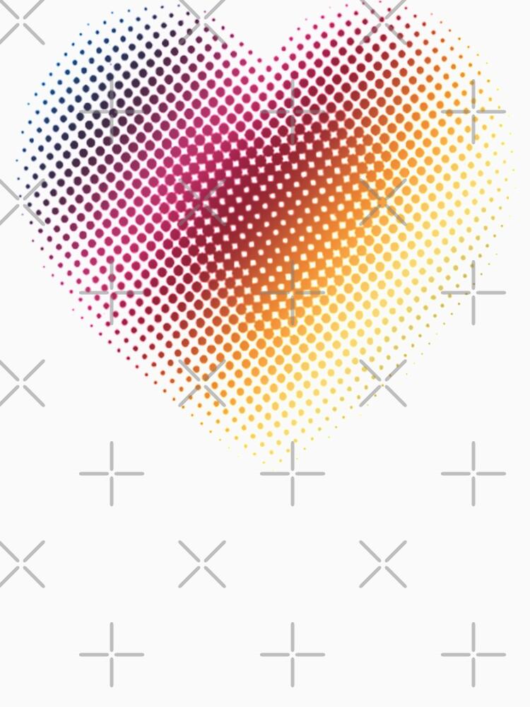 Linear Gradient on Halftone Heart (White) by jrbactor