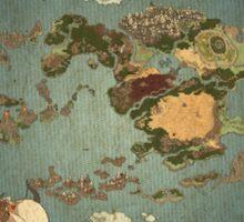 Avatar the Last Airbender - World Map Sticker