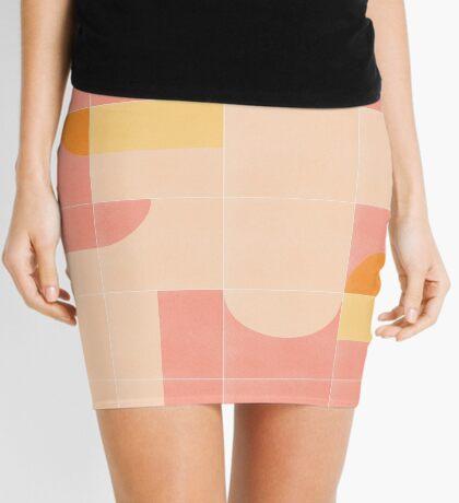 Retro Tiles 02 #redbubble #pattern Mini Skirt