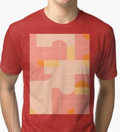 Retro Tiles 02 #redbubble #pattern Tri-blend T-Shirt