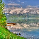 Lake, Colours and Reflection. HDR. by Daidalos