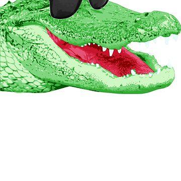 Cool Happy Alligator DJ  by idaspark