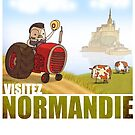 Normandie Travel Poster by benscruton