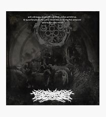 ETERNAL CANDLESHADOW OF THE NEKRODEMONCHALICE (Faces The True Desolation Of Sacrificial Grimskulls In The Moonforest Of The Thronegoat) - Album Cover... Photographic Print