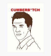 Cumberb*tch Art Print