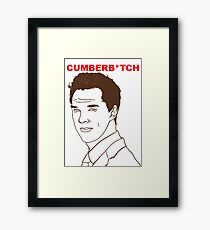 Cumberb*tch Framed Print