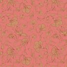 Floral in Pink Coral by lottibrown