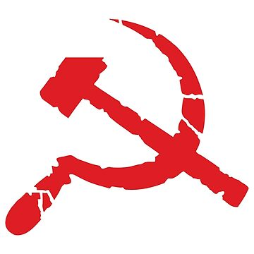 Weathered Communist Hammer and Sickle Symbol by NeoFaction