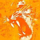 «Salpicadura de naranja de ira ardiente» de Garyck Arntzen