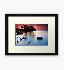 Sunset at Tenby Point Framed Print
