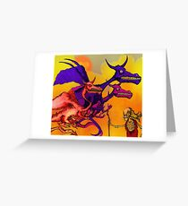 Dragon Master. Greeting Card