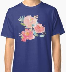 Peonies Watercolor Bouquet Classic T-Shirt