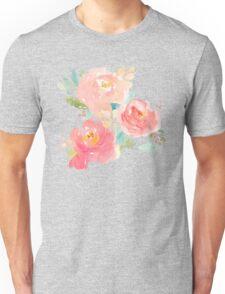 Peonies Watercolor Bouquet Unisex T-Shirt