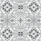 Terrific doodles in a pattern design preparing a terrible fright for you! by Zoo-co