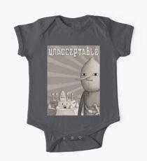 Unacceptable: Castle Lemongrab Short Sleeve Baby One-Piece