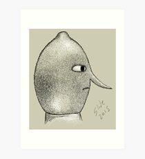 Lemongrab Profile Art Print