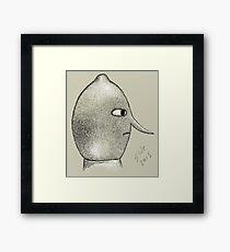 Lemongrab Profile Framed Print