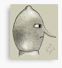 Lemongrab Profile Canvas Print