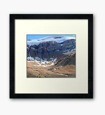 Glacier creeks Framed Print