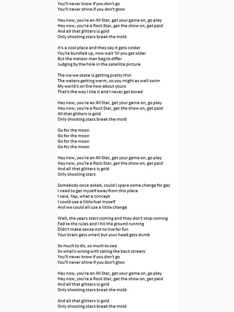 Lyric if you go away lyrics : All Star - Lyrics
