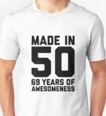 69th Birthday Gift Adult Age 69 Year Old Men Women Mom Dad Grandpa Grandma Slim Fit T-Shirt