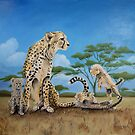 Cheetah Family by Meaghan Roberts