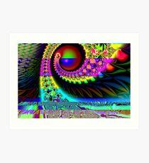 Green Eye or Blue Eye Art Print