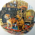 Dogs at home. by Robert David Gellion