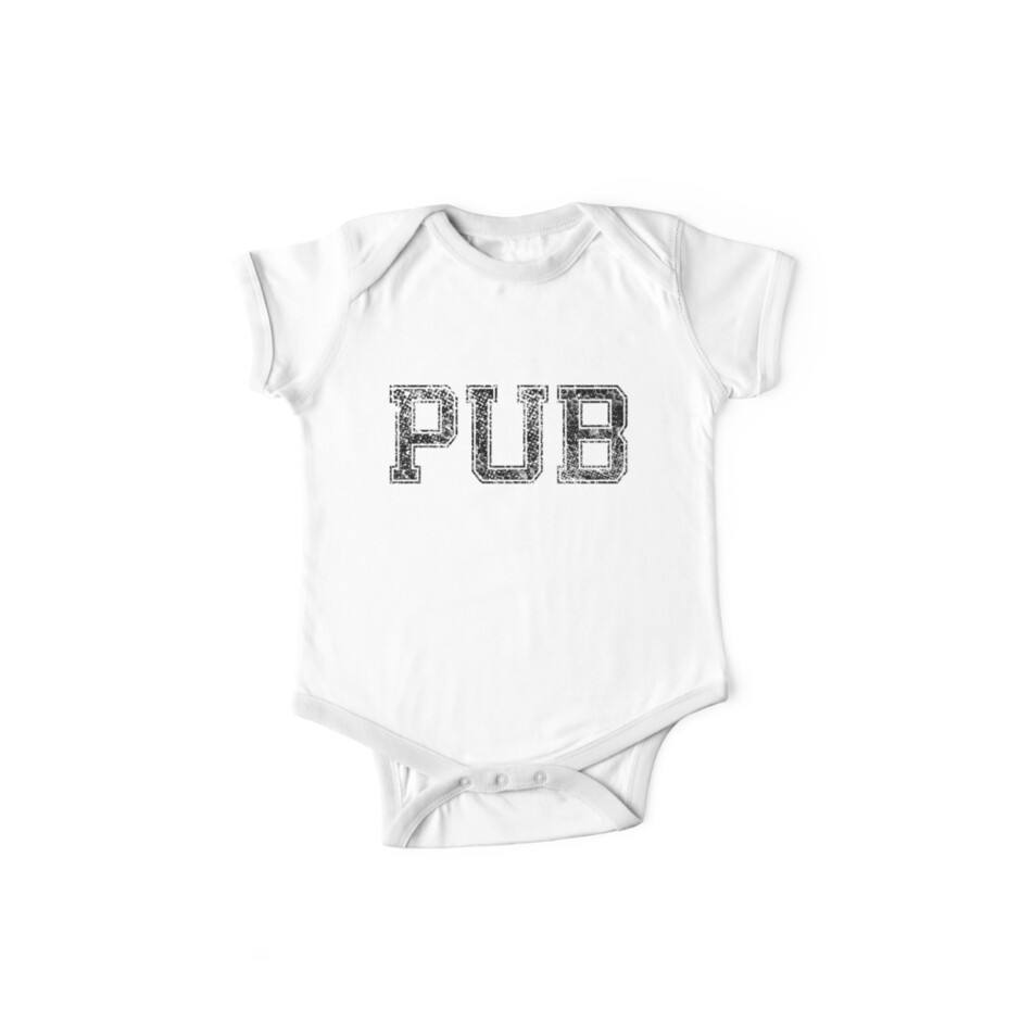 PUB, Vintage, Distressed von AllInitials2