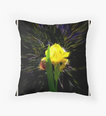 Yellow Iris I Throw Pillow