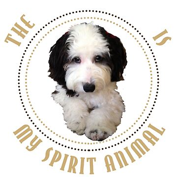 """Copy of Funny Cute """"Sheepadoodle Is My Spirit Animal"""" Picture Quote T Shirt by techman516"""