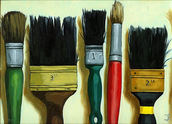 """Paintbrushes - """"Tools of the Trade"""" by LindaAppleArt"""