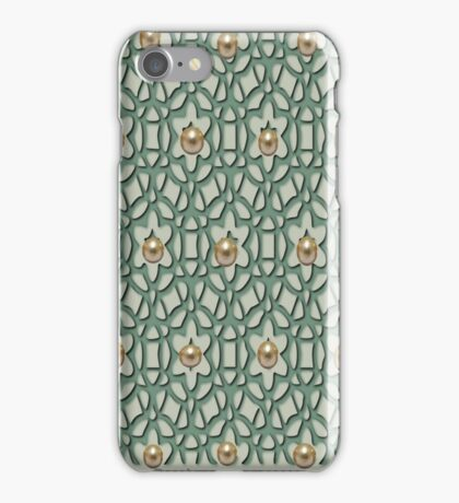 Pattern with pearls (4902 Views) iPhone Case/Skin