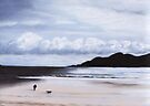 Walking The Dog, Hebridean Beach, Scotland by MagsWilliamson