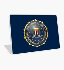Federal Bureau of Investigation - FBI Emblem 3D on Blue Velvet Laptop Skin