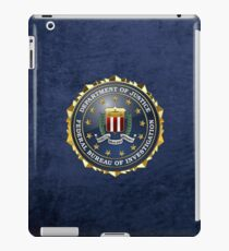 Federal Bureau of Investigation - FBI Emblem 3D on Blue Velvet iPad Case/Skin