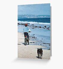 """""""Winter At The Beach - Two Souls"""" Greeting Card"""