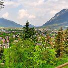View over Garmisch. Germany. by Daidalos