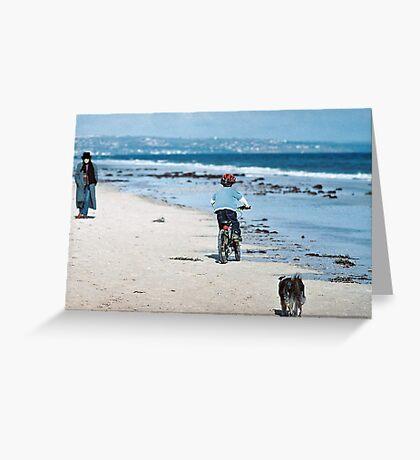 """Winter At The Beach - Three Souls"" Greeting Card"